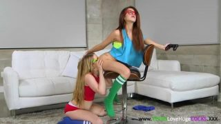Petite teens pussyfucked by enormous cock