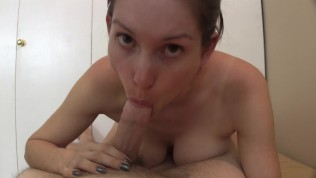 She finds out he's a virgin, gladly teaches sex lessons and POV creampie